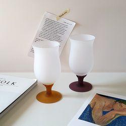 화이트 튤립 고블렛잔 와인잔