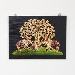(kcjg042)재물 코끼리 그림액자(40x30)