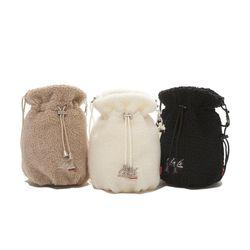 FLEECE BUCKET BAG (3 COLORS)
