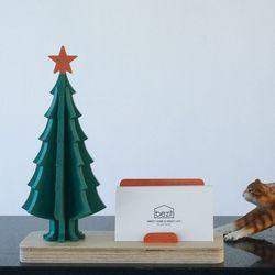 인테리어 크리스마스 트리 자작나무 명함꽂이 2종