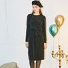 Layered Wrap Dress Black