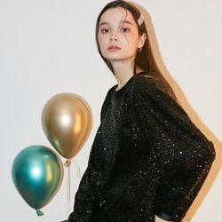 Spangle Mini Dress Black