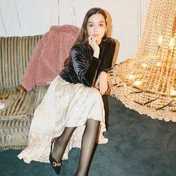 Unbalanced Flare Skirt Ivory
