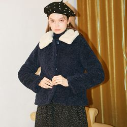 Teddy Bear Short Coat Navy