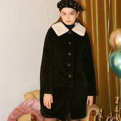 Teddy Bear Coat Black