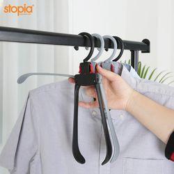 논슬립 원터치 접이식 옷걸이(고정형) 100P