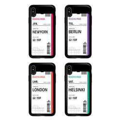 TCB-에어플레인티켓 카드 범퍼 케이스-아이폰11 프로 맥스 X 8 7