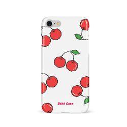 [슬라이드 케이스] [8Bit] Cherry Pattern