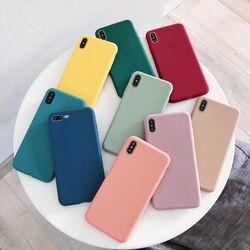 아이폰11 MAX XS XR 헤이즐 파스텔 무지TPU케이스