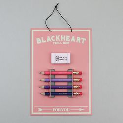 핑크 미니 연필 세트