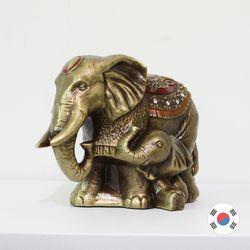 러브코끼리 국내 수작업 주물 장식품 SUN-701