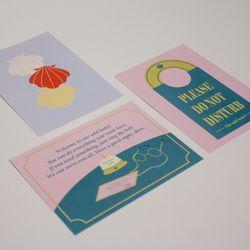 Odd mini postcard