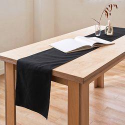 블랭크 블랙 광목 테이블러너 . 테이블보 (RM 256001)