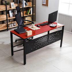 TS-01 강화유리 책상 1500x600 철제 컴퓨터 사무용