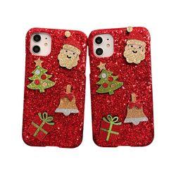 아이폰5S 크리스마스 샤이닝 커버 하드 케이스 P420