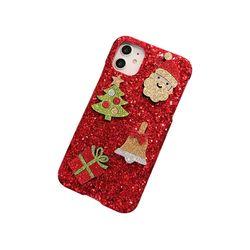 아이폰5 크리스마스 샤이닝 커버 하드 케이스 P420