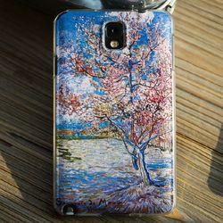 갤럭시노트 시리즈 명화케이스 꽃핀 복숭아나무 고퀄리티