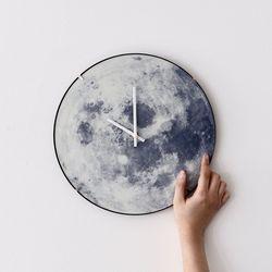 [무료배송] Dream Moon Clock 야광 돔형 달 무소음 벽시계