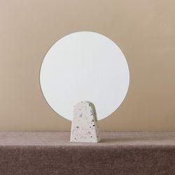 테라조 원형 탁상거울(뉴문)