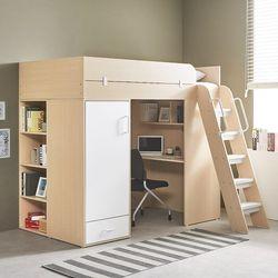 하우스 독서실책상 벙커침대