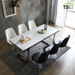 TS 아티크 세라믹 실버 모나코 6인 식탁세트 1800