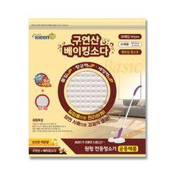구연산 베이킹소다 베이직 원형 물걸레청소포 120g 30매