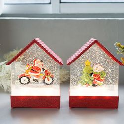 [2020쿠폰] 크리스마스 레드하우스 LED 워터볼 오르골 (3type)
