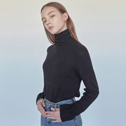 CASHMERE TURTLENECK KNIT BLACK