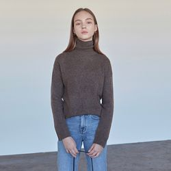 CASHMERE TURTLENECK KNIT COCOA