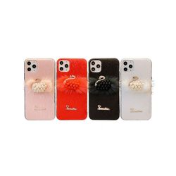 아이폰XR 스완 퍼 러블리 커버 실리콘 케이스 P413