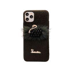 아이폰XS 스완 퍼 러블리 커버 실리콘 케이스 P413