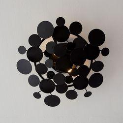 폴린 2등 인테리어벽등현관조명(A타입) 블랙