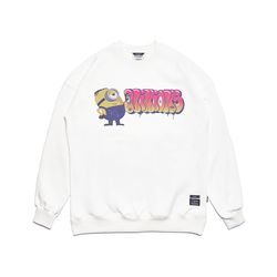 MINIONS OVERSIZED HEAVY SWEAT CREWNECK WHITE