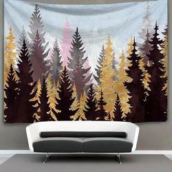 태피스트리 패브릭 포스터 - 가을숲 (150x130cm)