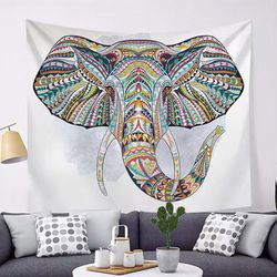 태피스트리 패브릭 포스터 - 행운의 코끼리 (150x130cm)