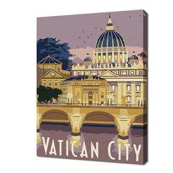 [명화그리기]2030 미니여행-바티칸 시티 12색 일러스트