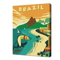 [명화그리기]2030 미니여행-브라질 12색 일러스트
