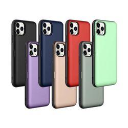 아이폰7 매직 카드슬롯 컬러풀 심플 하드 케이스 P427