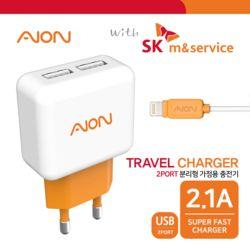 with SK엠앤서비스 8핀 가정용 USB 2포트 충전기 2.1A