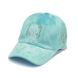 CLASSIC VELVET BASEBALL CAP BLUE GREEN
