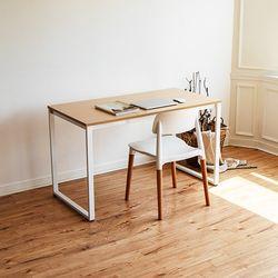 쿠드 1200 화이트 철제 책상테이블