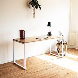쿠드 1500 화이트 철제 책상테이블