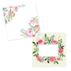 캘리그림엽서 수채꽃2종(10장)