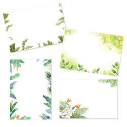 캘리그림엽서 잎 4종(10장)