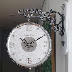 글리터 무소음 양면시계 실버화이트 CH1506917