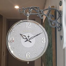 글리터 무소음 양면시계 실버그레이 CH1506916