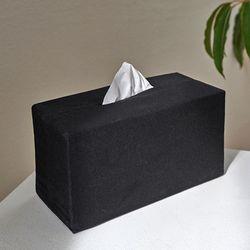 블랭크 블랙 광목 티슈케이스 . 티슈커버 (RM 257001)