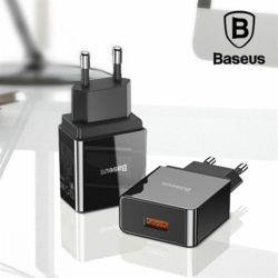 베이스어스 QC3.0 18W 초고속 USB 급속 충전기 어댑터