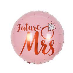 Future Mrs 핑크 은박 라운드 풍선