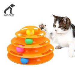 미소펫 와리가리 4단 탁구공 트랙타워 고양이 장난감